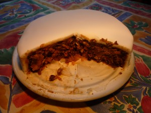 about 3000 calories per slice