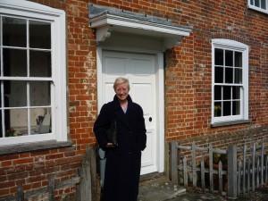 outside Jane Austen's house
